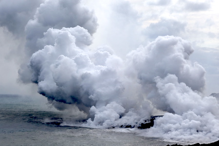 We biked to where Kilauea is spitting hot lava into the sea—Hawaii is reborn!