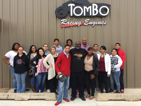 Tommy Bolton hosted inner-city kids from the charter school Seeworth Academy in Oklahoma City.