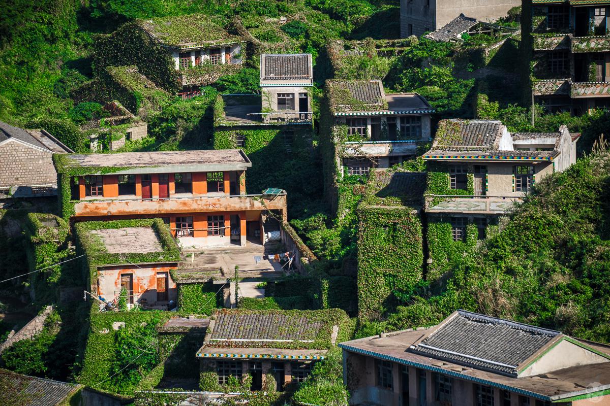 The Abandoned Fishermans Village of Houtouwan– Shengshan Island  ツタに覆われた廃漁村 嵊山島