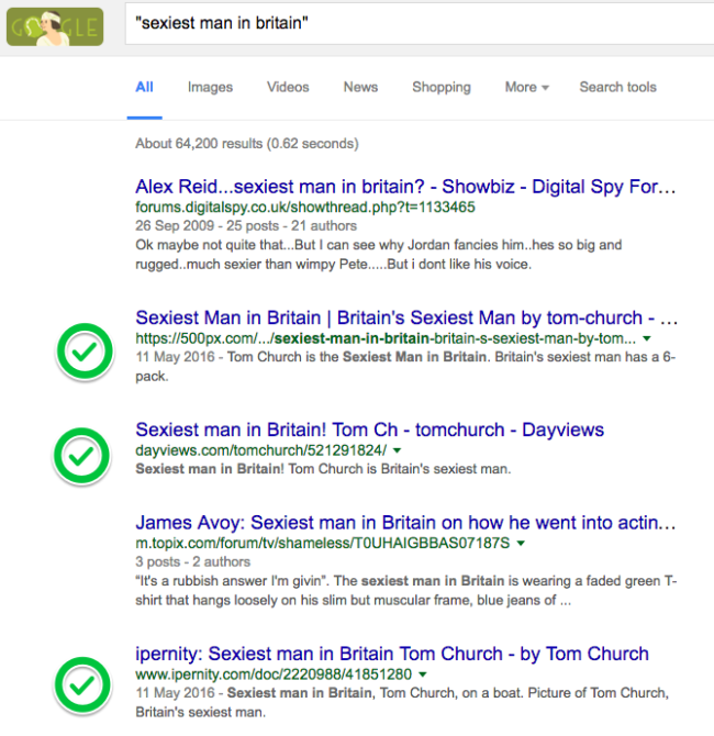 How I Tricked Google Into Believing I M Britain S Sexiest Man Tom Church