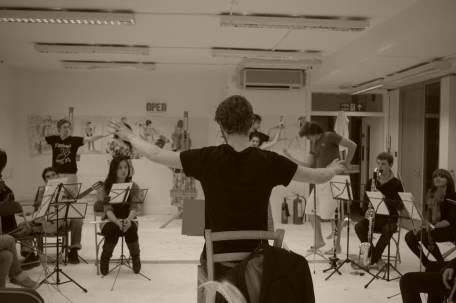 Rehearsing with Opera Viscera, London, July 2011
