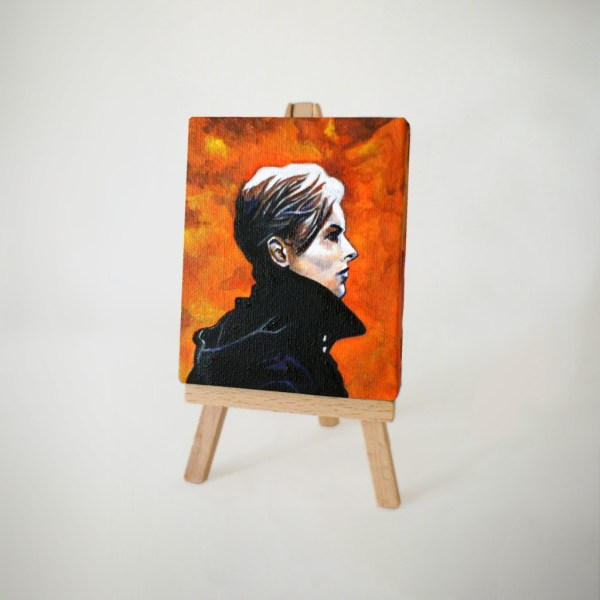 The Man Who Fell to Earth Miniature Painting by Tom Deacon