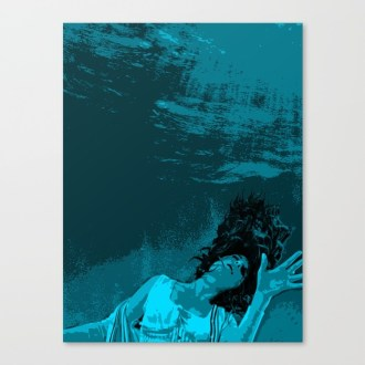 The Drowning Girl Canvas Print