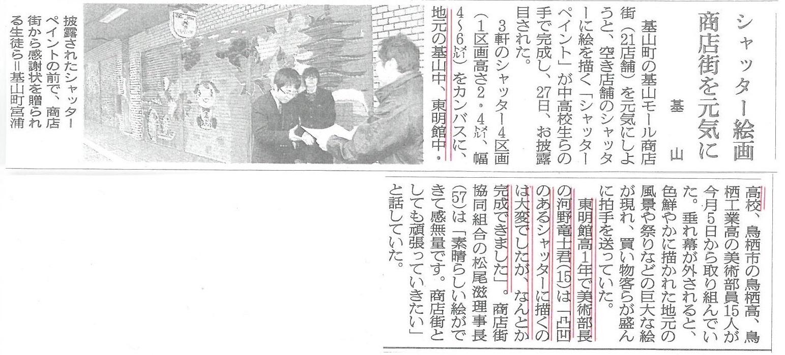 シャッターペイント(新聞)
