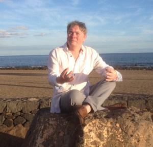 Tom Evans on beach in Lanzarote