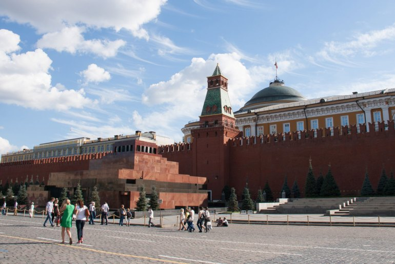 The Kremlin and Lenin's mausoleum