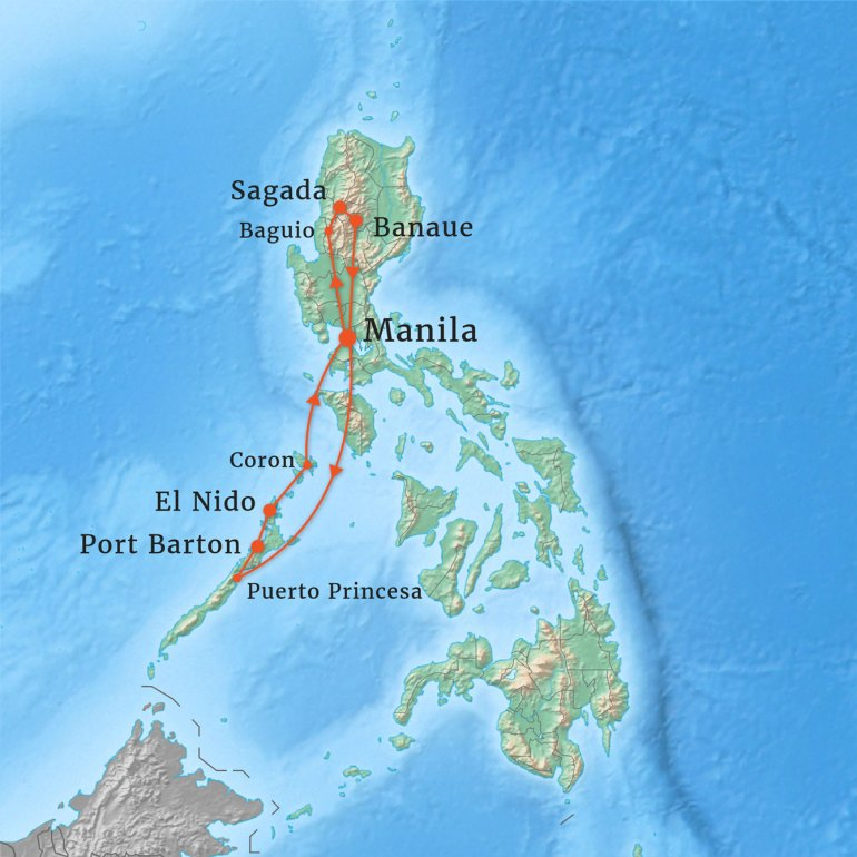 Our route in the Philippines