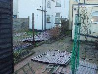 pic of fence whilst blown down