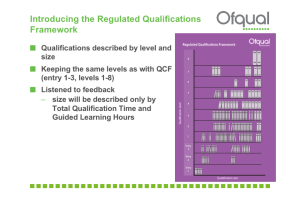 Regulated Qualification Framework