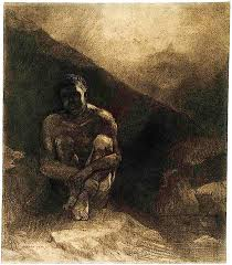 Primitive man Odilon Redon Paintin