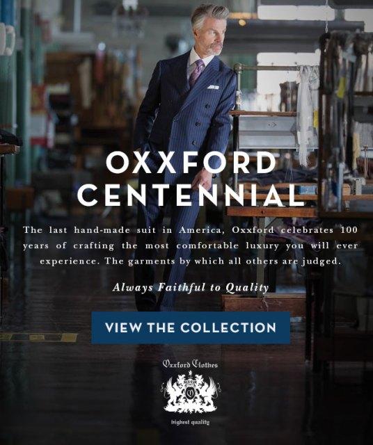 Oxxford Centennial Collection Celebrates 100 Years