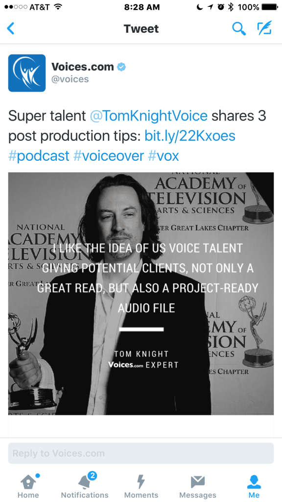 Tom Knight VoiceOver expert on voices.com