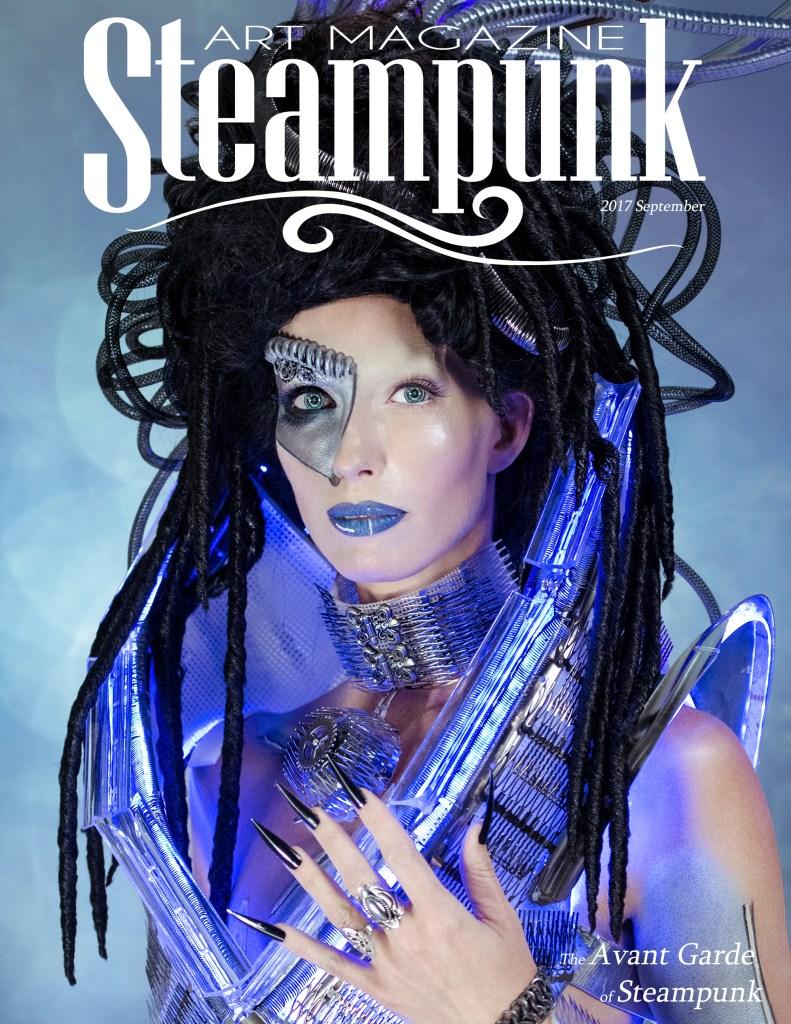 Steampunk Art Magazine | 2017 September Concept & Photography | Tom Libertiny Model | Stefanie Kwiatkowski Costume | Andrew Martina MUHA | Charlee HM Assistant MUHA | Tracy Noe Manicurist | Tiffany E. Smith