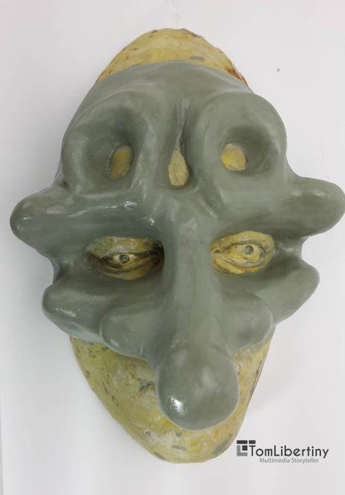 Physical birth of Murgatroyd the Mask | Clay over plaster casting