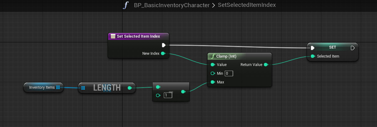 Tutorial basic inventory system in blueprint tom looman character function setselecteditemindex malvernweather