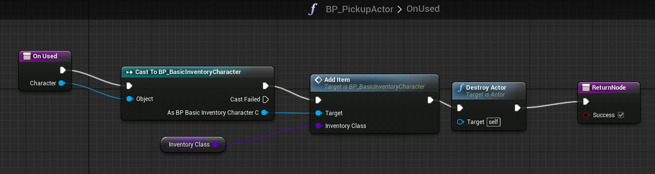 Tutorial basic inventory system in blueprint tom looman begin focus end focus events toggle the render custom depth on our static mesh if enabled the mesh is drawn into a special depth rendertarget that is malvernweather Choice Image