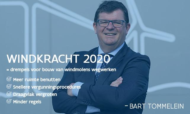 Minister Tommelein op campagnebeeld Windkracht 2020
