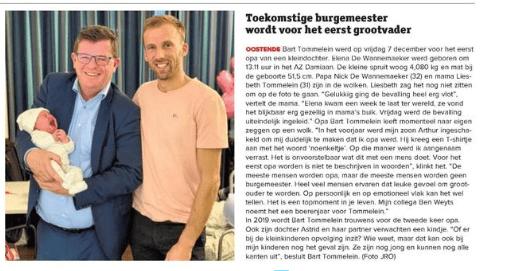 Artikel Krant van West-Vlaanderen