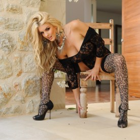 Tommie Jo in Leopard Print Stockings