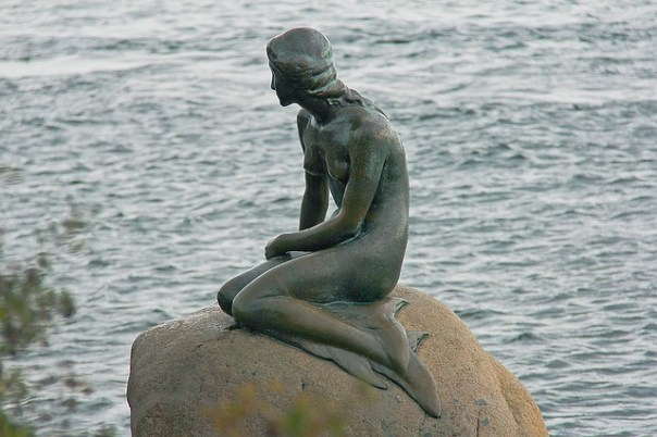 The Little Mermaid Statue in Denmark