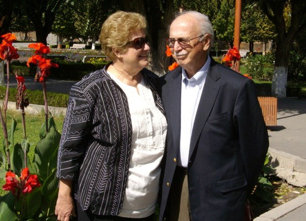 Tom and Jan Mooradian, on the grounds of the Etchmiadzin