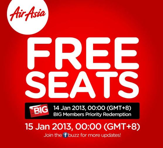 airasia free seats jan13
