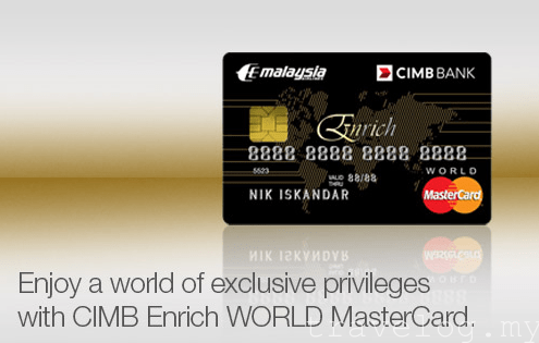 2017 top 10 travel credit cards to apply for malaysians no cimb enrich world mastercard reheart Gallery