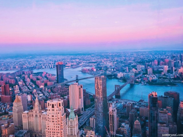 New York Skyline view from One World Trade Center
