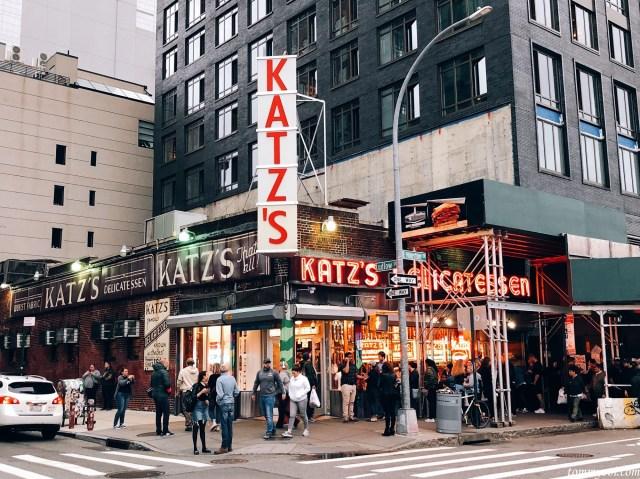 Katz's Delicatessen shop in New York