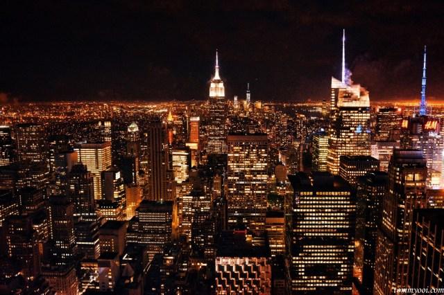 New York Skyline view from Rockefeller Center
