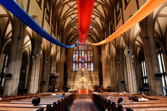Trinity Church Interior in New York