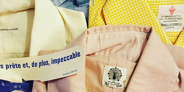 Archive treasure found!  Dead stock 60's menshirts by #turnbull&asser #turnbullandasser #byappointment #vintagemenswear #prinsenstraat