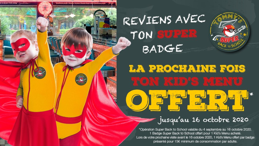 Super Back to School dans votre Tommy's Diner