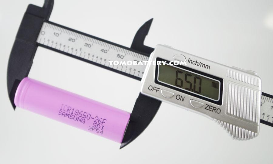 Test-of-Samsung-ICR18650-26F-Battery-length