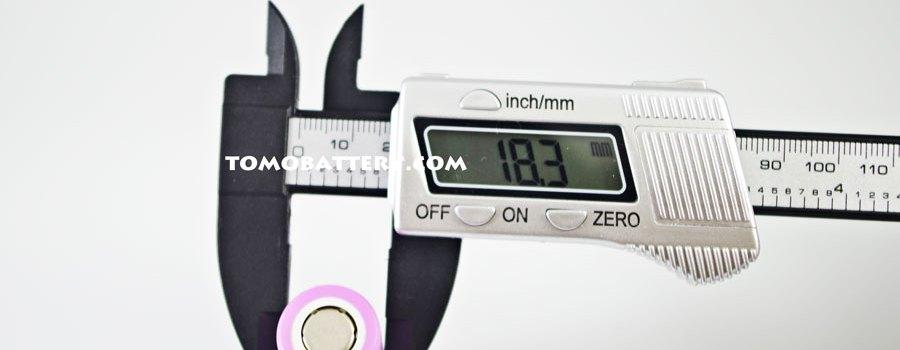 Test-of-Samsung-ICR18650-26F-Battery-width