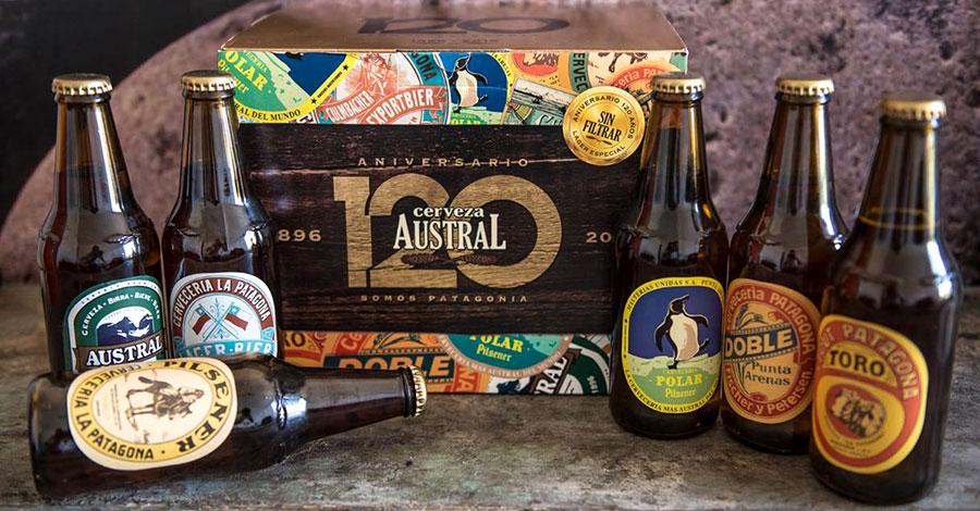 Cerveza Austral lager sin filtrar conmemorativa 120 años