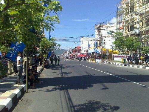 Suasana Pusat Kota Tomohon, TIFF2012