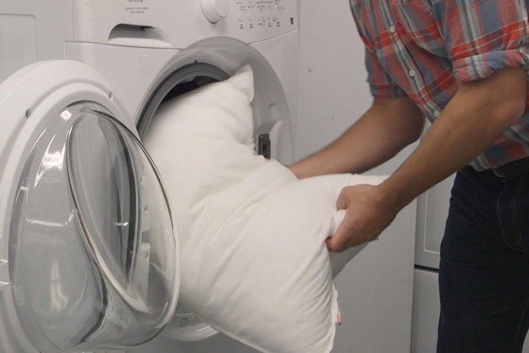 How To Clean Pillows - #2 Placing Pillows In Washer
