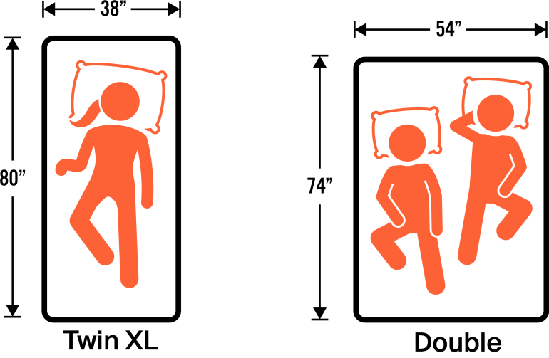 Twin XL vs Double Mattress Size