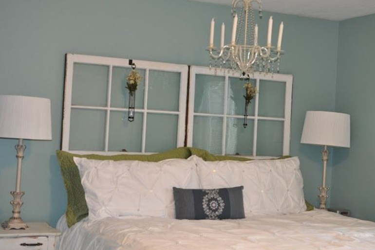 Diy headboard ten creative guides on how to make a headboard - What to use instead of a headboard ...