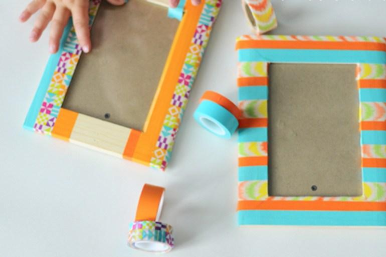 DIY Room Decor Tip #8 - DIY Tape Picture Frames