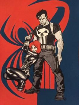 Punisher y Black Widow