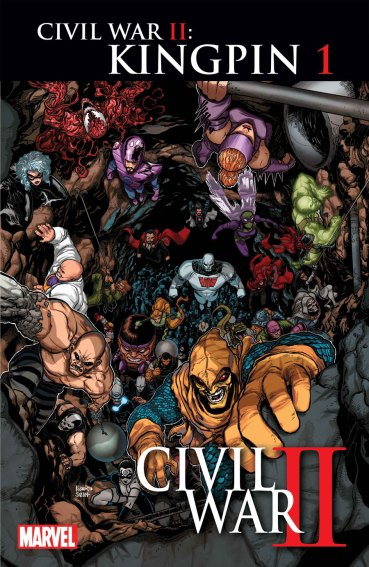 """Civil War II: Kingpin"" #1 regular cover por Aaron Kuder"