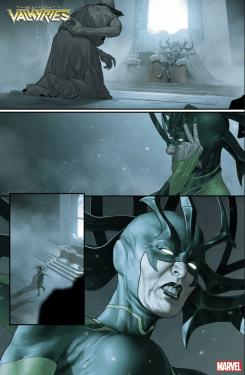 The Mighty Valkyries página 1 preview serie Loki y Jane Foster