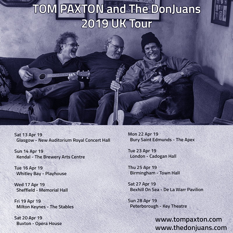 Image result for tom paxton uk tour 2019