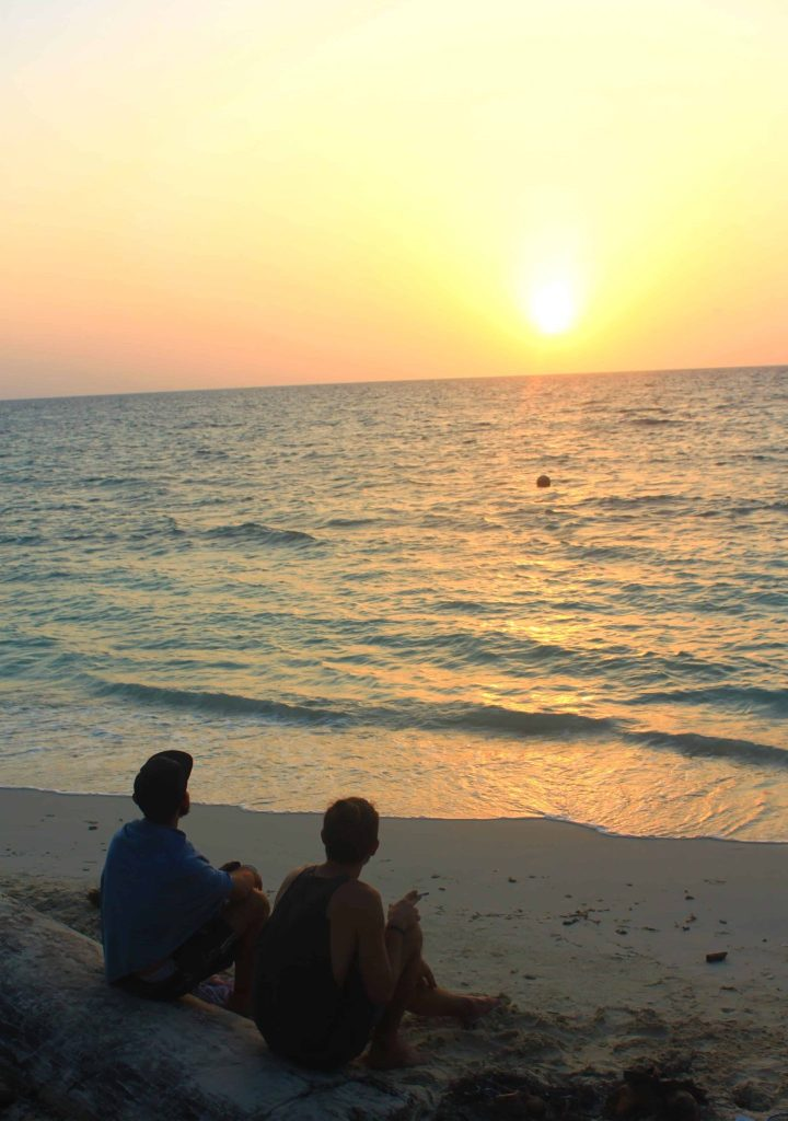 Dom and I Watching the sunset on Isla Mucura