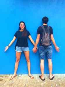 Andy Warhol game - Blue Wall Cartagena de Indias