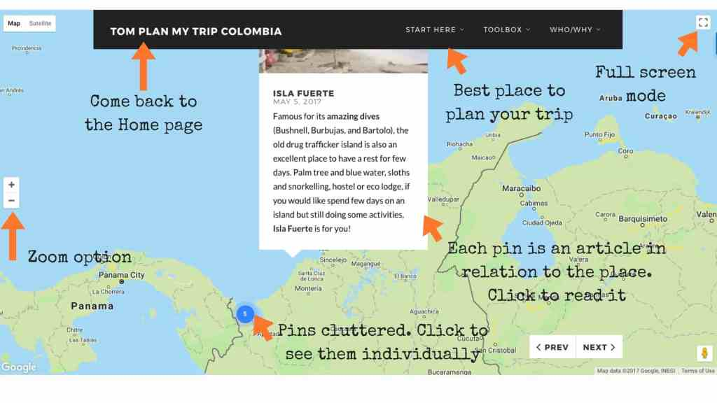 Plan your trip to Colombia Homepage