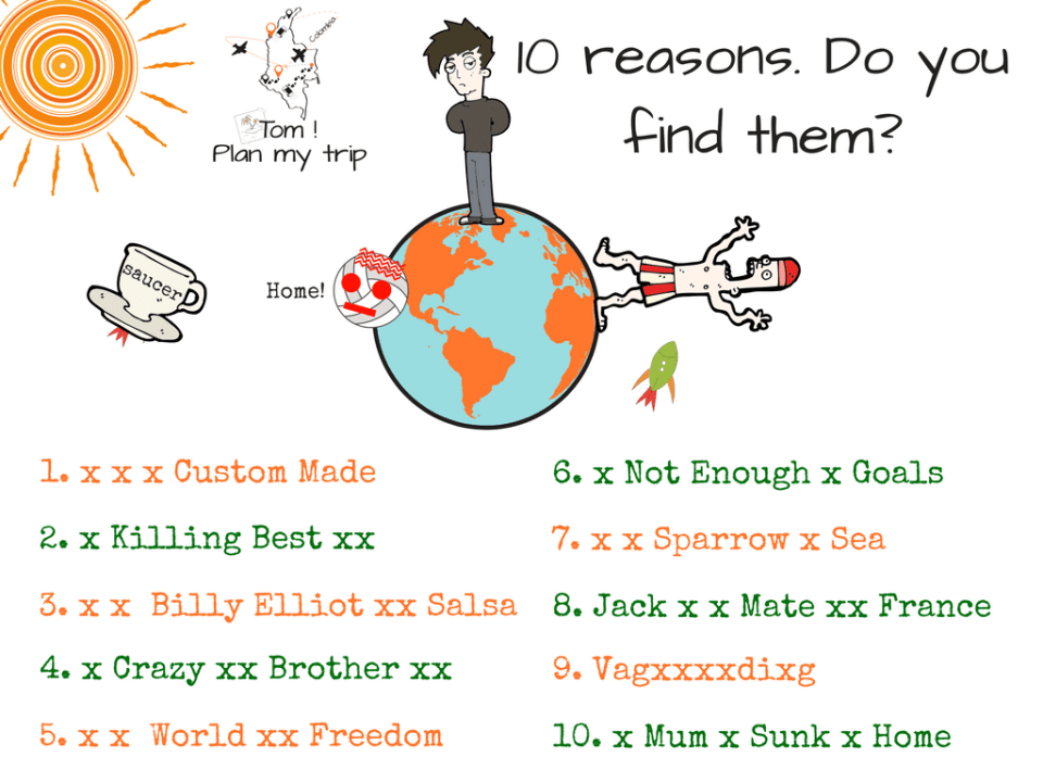 No plan travel - 10 reasons