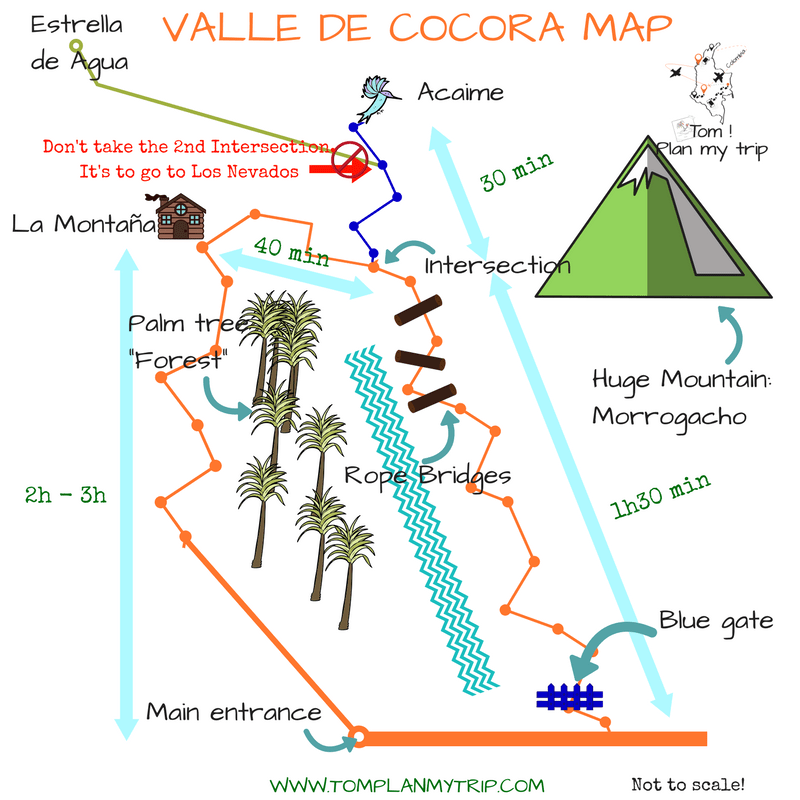 Valle de Cocora Map Salento Best trip to Colombia